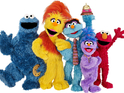 The Sesame Street pair star alongside brand new characters in the puppet show.