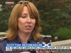 Kay Burley says Independence campaigner 'looks like a bit of a knob'