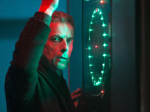 Peter Capaldi as The Doctor in Doctor Who S08E05: 'Time Heist'