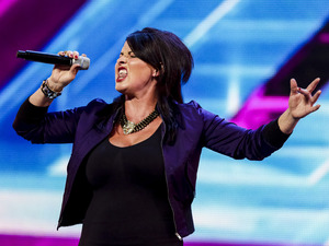 Michelle Lawson performs on The X Factor