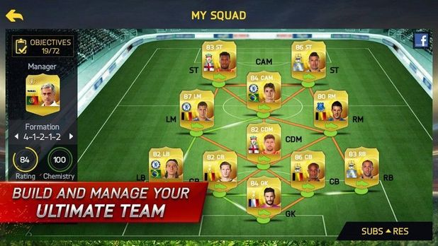 Fifa 15 mobile focuses on ultimate team as 80 of users play just 2