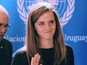 Emma Watson travels to Uruguay for UN