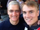 Apple's Tim Cook with Phil Buckendorf