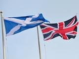 The Union Jack and the Scottish flag