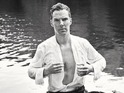 See a brooding Benedict Cumberbatch wade through water for charity campaign.