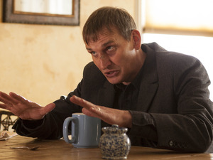 Christopher Eccleston gives an outstanding performance in 'Two Boats and a Helicopter'.