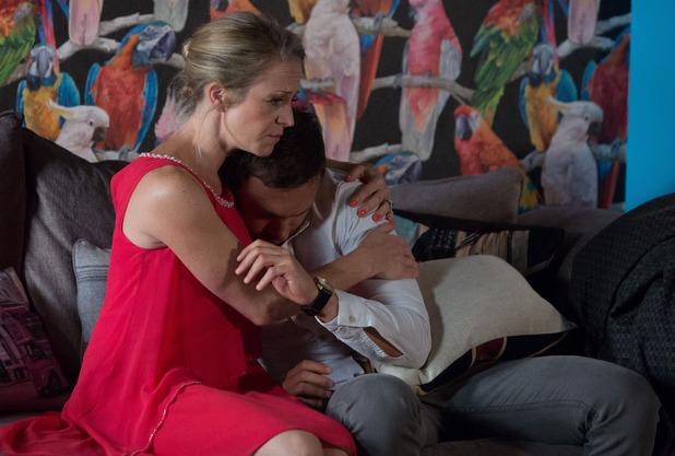 Linda comforts Dean