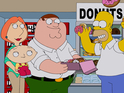 A crossover with The Simpsons will re-launch Family Guy on BBC Two.