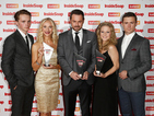 Danny Dyer and Kellie Bright also joke about the risk of swearing live on-air.