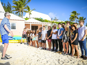 Louis Walsh and the groups at the judges houses stage on The X Factor 2014