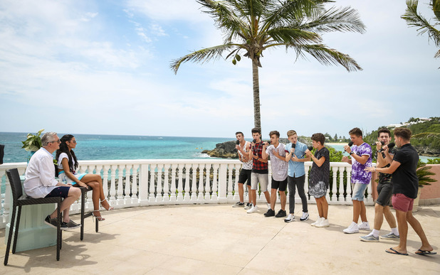 at the judges houses stage X Factor Judges House Guests