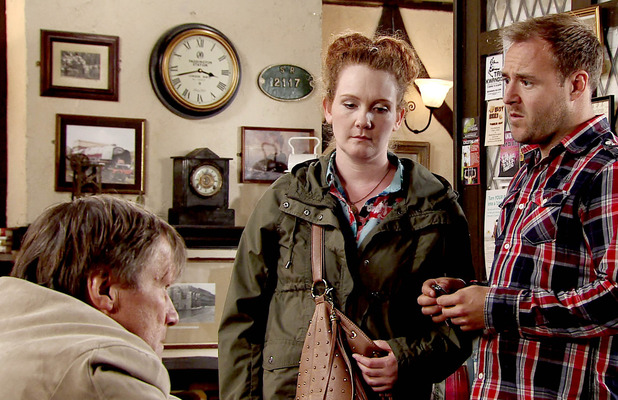 Tyrone and Fiz do their best to reassure Roy