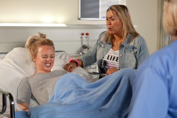 Myra supports Theresa throughout the birth