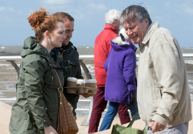 Roy gets increasingly anxious as he prepares to scatter Hayley's ashes in Blackpool