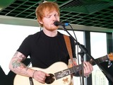 Ed Sheeran performs at the #AmazonFrontRow event in London.