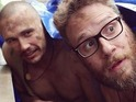 Franco posts nude photos of himself and Seth Rogen online.