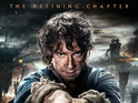 The final Hobbit film releases main poster, featuring Martin Freeman's Bilbo Baggins.