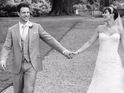 See the Saturdays star on her wedding day with Wayne Bridge in new photos.