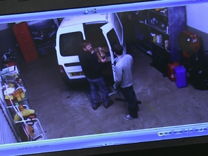 Gethin is caught out on CCTV