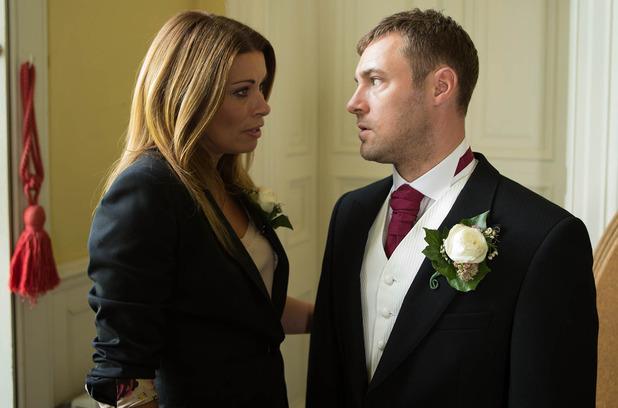 Rob hopes Carla will keep his secret