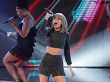 Taylor Swift performs on the first results show of The X Factor 2014