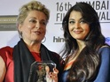 The actress was guest of honour along with Helen and Catherine Deneuve.