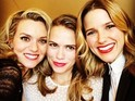 Sophia Bush and Bethany Joy Lenz are seen posing with co-stars.