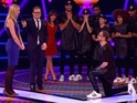 Couple get engaged live on stage during charity telethon Stand Up to Cancer.
