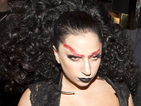 See Lady Gaga's Halloween-themed costume as she heads to Guy Ritchie's pub.