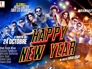 Happy New Year's French poster