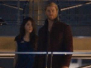 The Avengers: Age of Ultron still featuring mystery actress