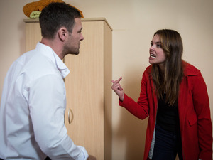 Tracy accuses Rob of risking everything for Carla.