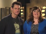 Jim Carrey and Aidy Bryant in SNL promos
