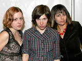 Corin Tucker, Carrie Brownstein and Janet Weiss of Sleater-Kinney
