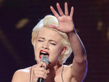Chloe Jasmine Whichello performs in the sing-off during The X Factor week 2 results show