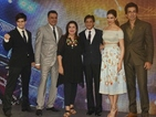 Director Farah Khan and several cast members attend the launch in Mumbai.