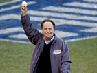 Williams' oldest son throws the first pitch of the game to Billy Crystal.