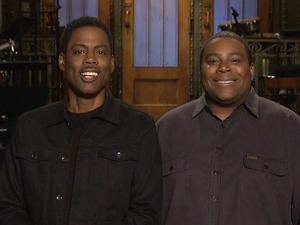 Chris Rock and Kenan Thompson in SNL promo