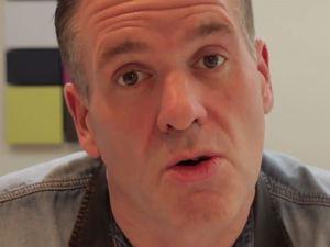 Chris Moyles halloween make up tutorial on YouTube
