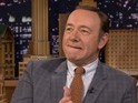 Kevin Spacey does spot-on celebrity impressions on The Tonight Show.