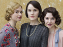 Lily James as Lady Rose, Michelle Dockery as Lady Mary Crawley & Catherine Steadman as Mabel Lane Fox in Downton Abbey S05E07