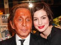 'Valentino: At the Emperor's Table' book signing at Maison Assouline flagship, London, Britain - 28 Oct 2014Valentino and Anne Hathaway