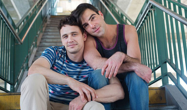 James Franco and Zachary Quinto in Michael