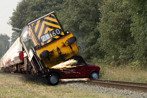 Train Crash Car Class 14 fireball Anyo...