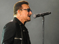 U2's Bono reacts to plane emergency