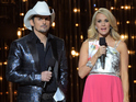 Carrie Underwood and Brad Paisley poke fun in their opening monologue last night (November 5).