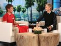 Twitter sensation meets with Ellen DeGeneres to talk about his sudden internet fame.