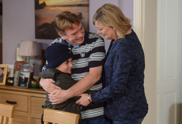 Bobby returns home to a delighted Ian and Jane