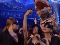 The rapper's awards selfie includes a surprise creature.