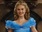 Downton Abbey star puts on the glass slipper for Disney's live-action remake.
